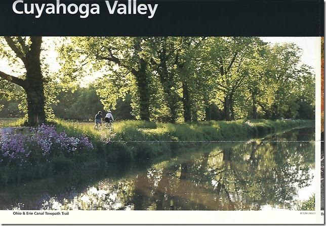 CVNP Cuyahoga Valley brochure. Page 1.