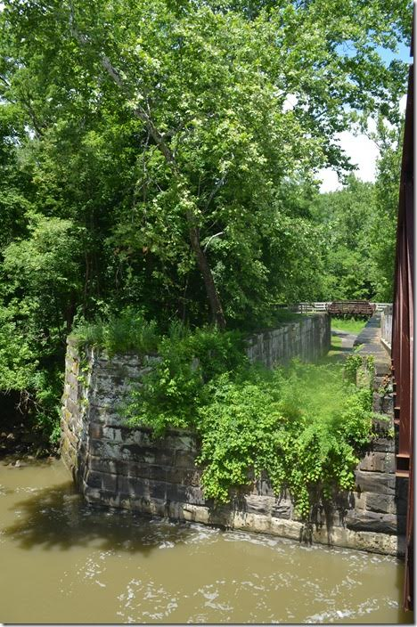 The Lock 29 chamber and aqueduct foundation on the east side. Peninsula OH.