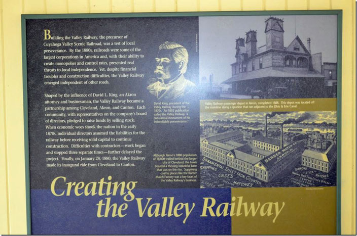CVSR display Creating the Valley Railway Akron OH.