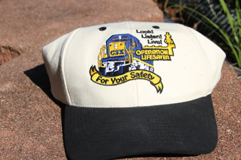 CSX Operation Lifesaver hat