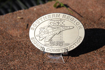 CSX Southern Region Signal Construction Buckle