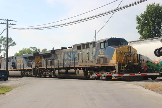 CSXT 42 and 785 at Fostoria's Railfan Park.