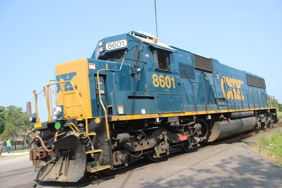 CSXT 8601 was caught running light.