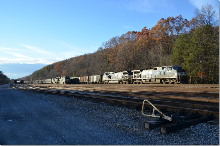 387 picked up more empty coal cars at Yuma and arrived Andover with 95. NS 9765 8079. Yuma VA.
