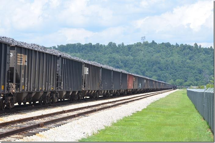 Stub end sidings off the NS Kenova District main. 06-21-2015. SunCoke Energy Haverhill OH. View 3.