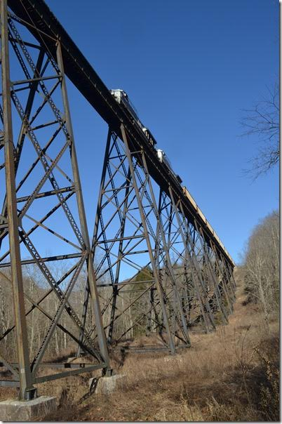 NS 8133 740-01 crosses Trace Branch trestle at Field VA.
