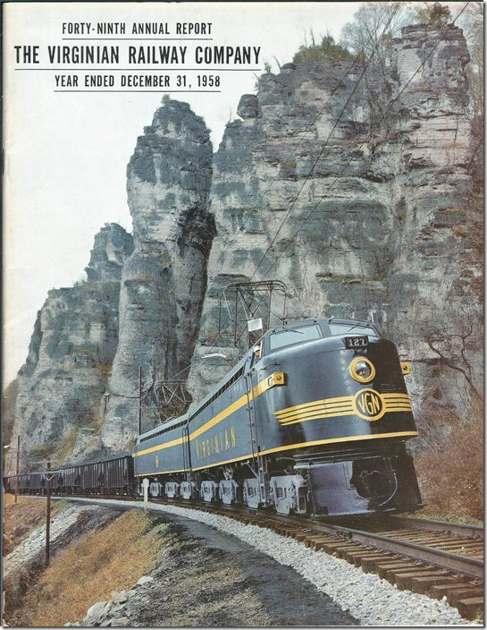 "Next I detoured off US 460 to Eggleston VA. Known as the ""Palisades of the New River"", this location was featured on the cover of the Virginian 1958 annual report."