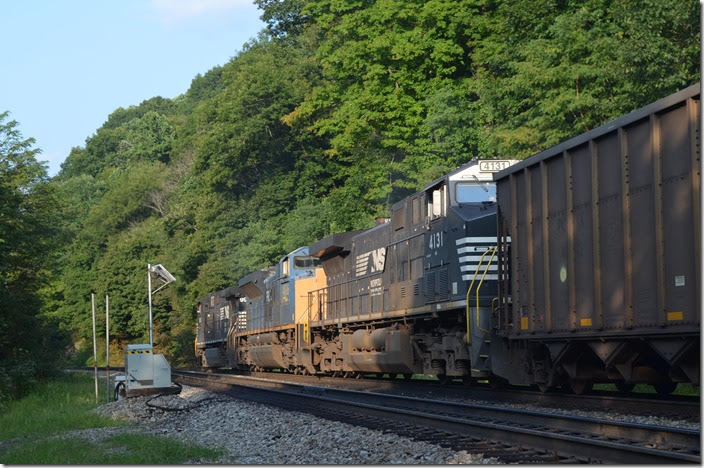 Yes that is a former CSX SD70ACe which is now in Progress Rail's lease fleet. NS 9969-PRLX 4836-4131. View 2. Ada WV.