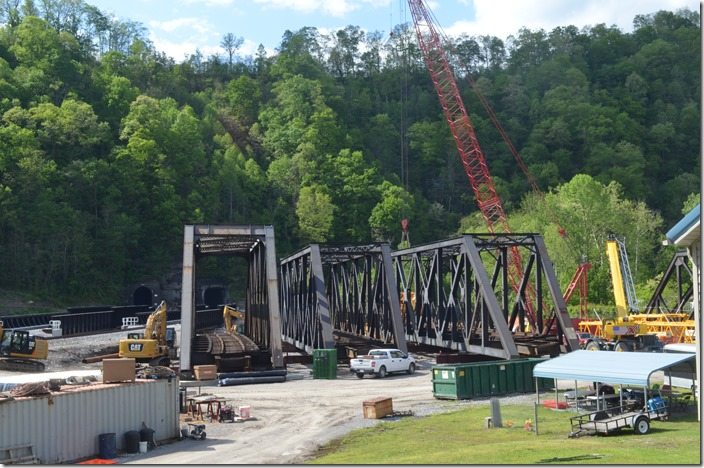 The old NS bridges will have to be dismantled or scrapped on the spot. Matewan WV. 05-07-2020.