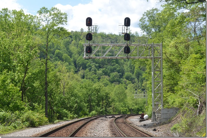 Just east of Matewan WV, I found an NS approach signal at White WV. A center siding begins here.