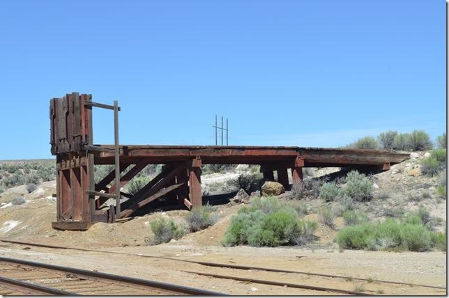 Ramp used by independent miners for loading ore at Keystone.