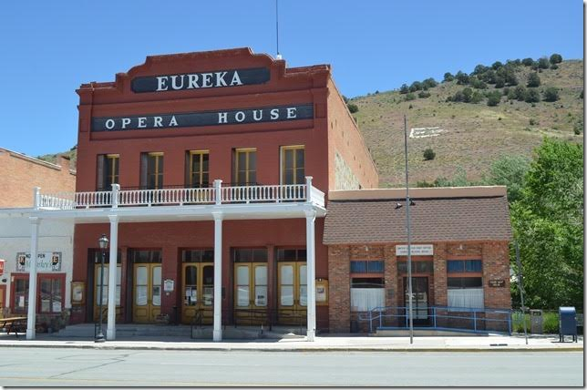 The opera house and post office. The building was built in 1880. The county purchased and restored it in 1993.
