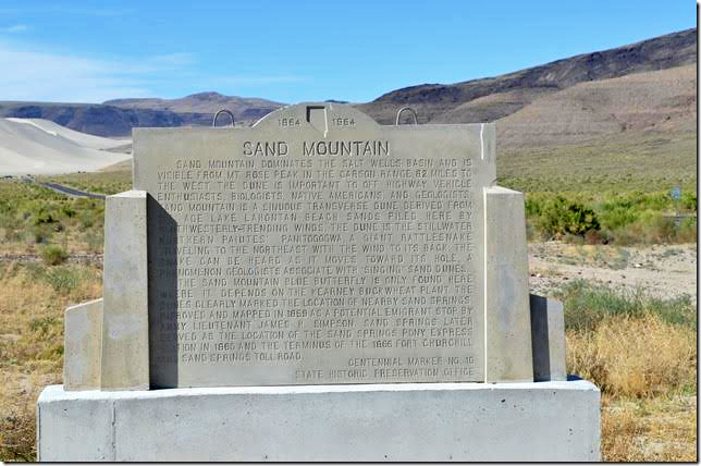 Sand Mountain monument.