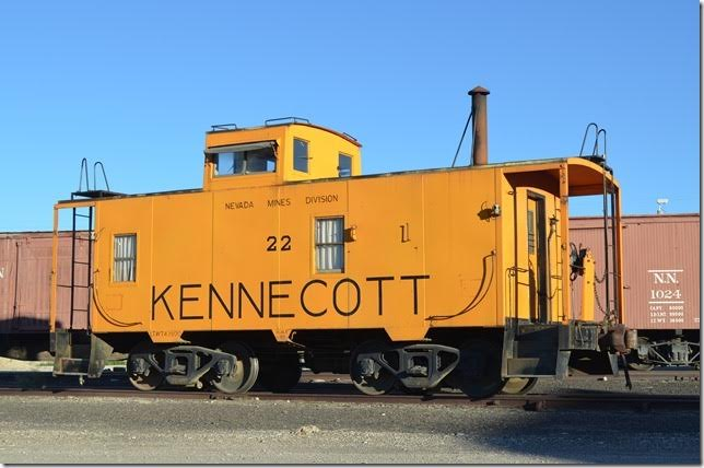 KCC caboose 22 was built 01-1955. Ely NV.