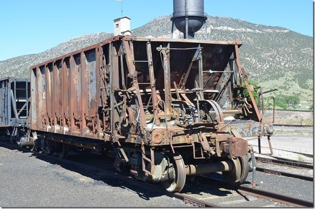 NN ore car 1228 is a Koppel car with Simplex trucks patented 11-23-2011. Ely NV.