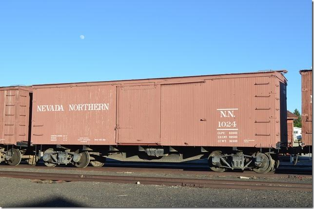 NN box car 1024 Ely NV. These are also used on the photo freight.