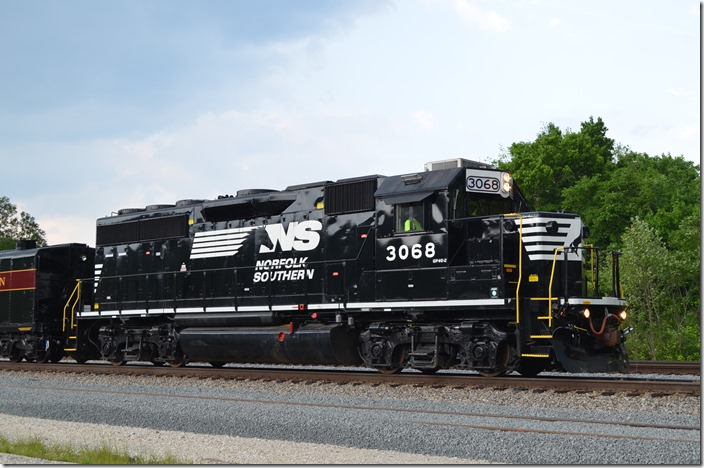 NS GP40-2 3068 came from Conrail.