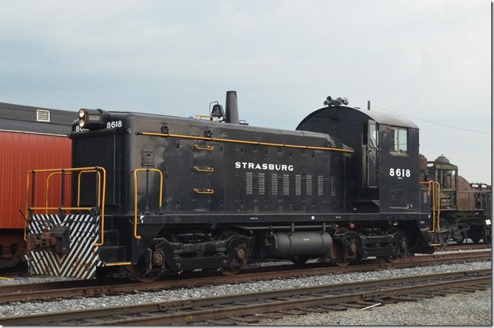 Strasburg RR SW-8 8618 is the shop switcher. It came from the NYC originally, but later served Penn Central and Conrail.