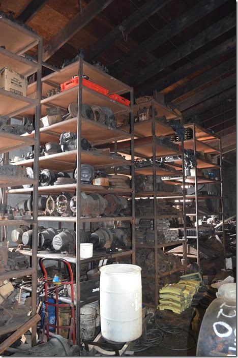 Strasburg has a huge stock of spare parts. These valuable and rare items are often sold or traded to other railroads in need.