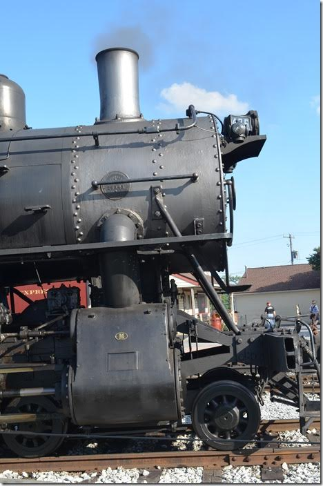 N&W 475. Up close. Strasburg.