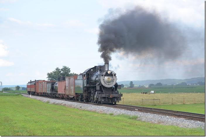 The second run-by. N&W 475 near Strasburg.
