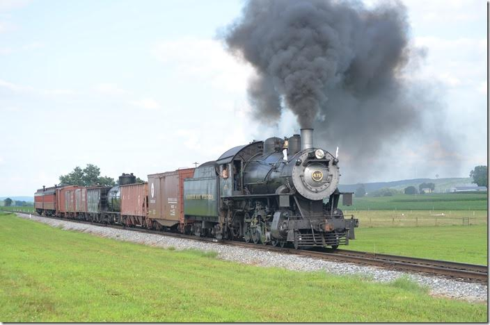 The second run-by. View 2. N&W 475 near Strasburg.