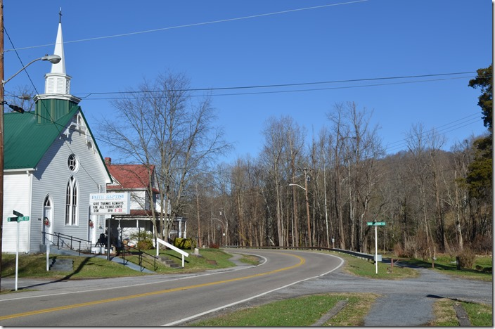It was a Lutheran Church in Link's photo. The water tank was just beyond the crossing. NW roadbed & church. Damascus VA.