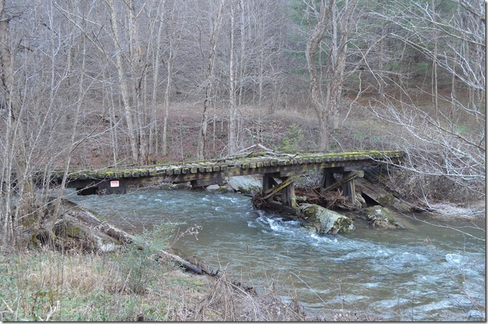 Abandoned bridge near Tuckerdale NC. Link photographed a double-header crossing this bridge northbound on page 81 of The Last Steam Railroad... NW bridge Tuckerdale NC.