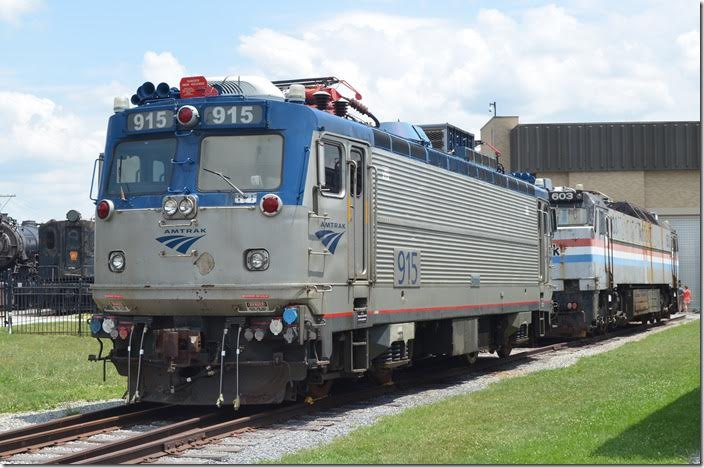 Amtrak 915 AEM7 was built in 1981 by EMD/ASEA. E-60CP was built by GE in 1976.