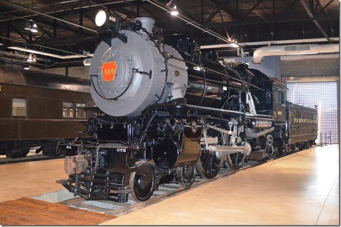 PRR 4-4-2 E6s 460 was built in 1914. This is the Lindbergh Special locomotive.