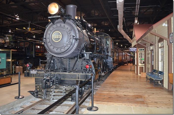 PRR 4-4-0 class D16sb 1223. Built Juniata Shops 1905 for passenger service.