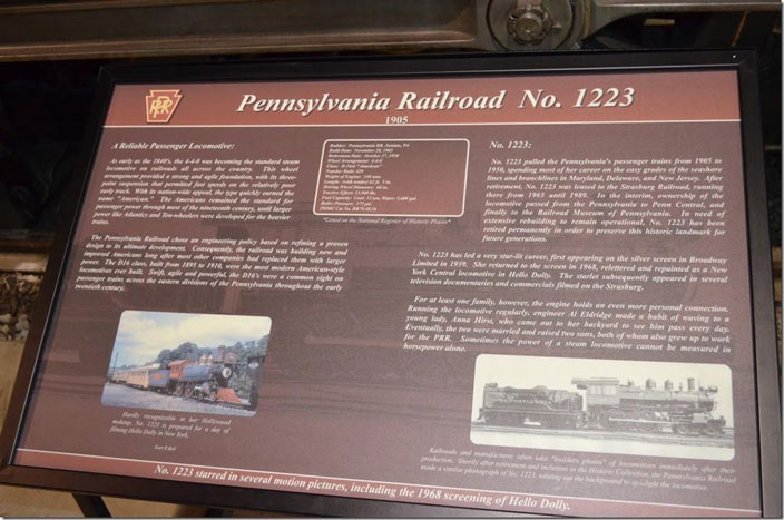 PRR 1223 display board. Click on image for a larger view.
