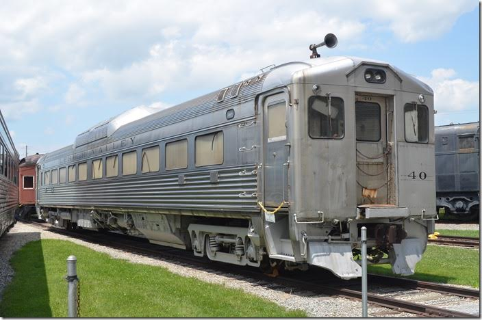 Lehigh Valley RDC-1 40 was used on the Hazleton Branch to connect with main line trains at Lehighton PA. It was built by Budd in 1951 along with RDC-2 (had a baggage compartment) to replace gas-electrics on the branch. When main line passenger service ceased in the early 1960s, 40 continued on for a few days making it the last passenger train on the LV. C&O had six RDCs, and two closed out passenger service on the Big Sandy in 1963. RDCs were valuable, and this one didn't stay idle for long. It was sold to the Reading in 1961.