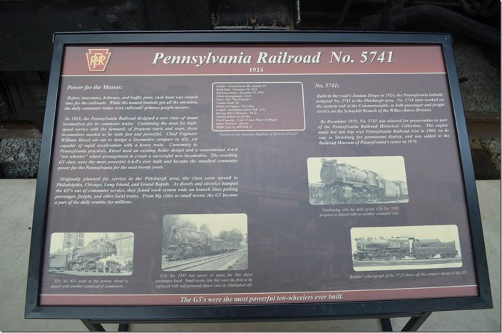 PRR 5741 display board. Click on image for a larger view.