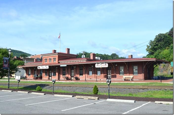The former Reading depot in Tamaqua has been renovated into several businesses. Tamaqua PA.