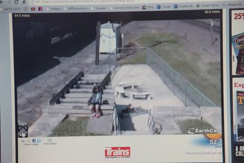Rochelle IL Train web cam
