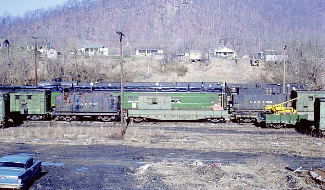 "Coal tipple, camp cars, car shop, coal dock and ""The Knoll"". 3-7-70. View 2"