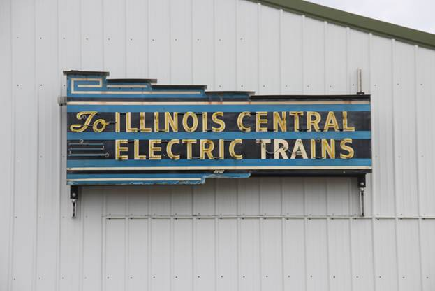 to Illinois Central Electric Trains sign.