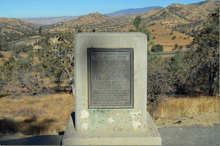 Historical Marker Tehachapi Loop. Click image for larger view.