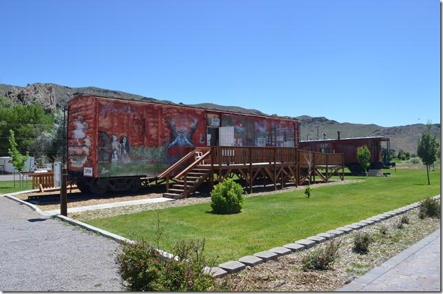 I visited the local railroad museum in the boxcar. The had a good collection of old photos of the town and the UP yard.