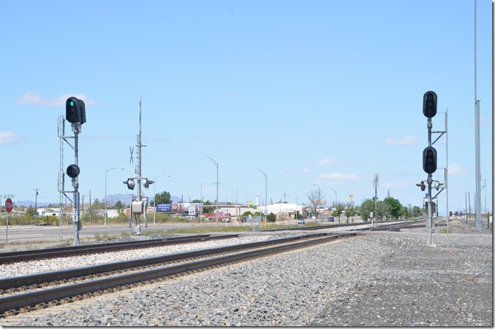 There is a clear on westbound signal 11497 track 1. UP signal 11497 track 2 wb. Lordsburg NM.