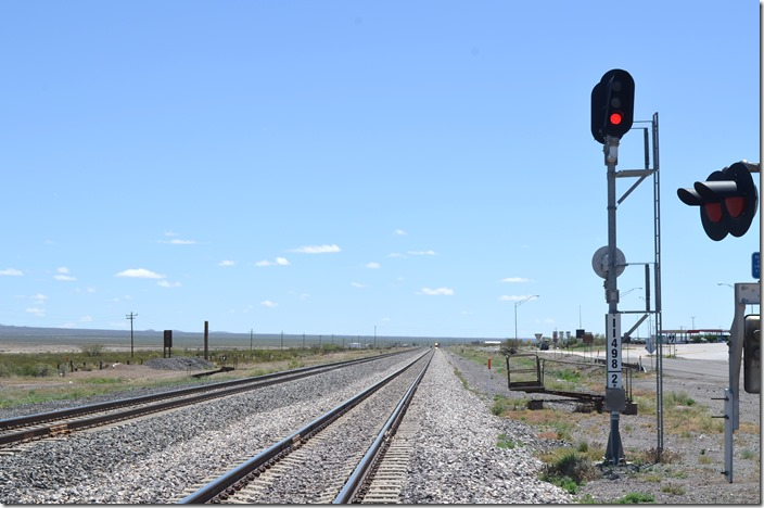Something is approaching from the east. UP signal 11498 track 2 eb. Lordsburg NM.