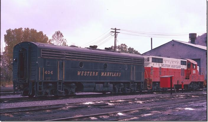 F9b 404 and GP7 22. Oct 20, 1974. Even at this date late in their careers, first generation WM power didn't look worn out! WM Ridgeley WV.