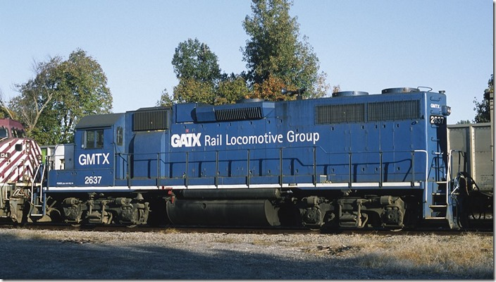 GMTX GP38-2 2637 is ex-CR, nee-PC