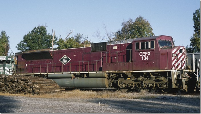 CEFX SD90MAC 134 has had the loco changed from A&O (Allegheny & Ohio) to PAL.